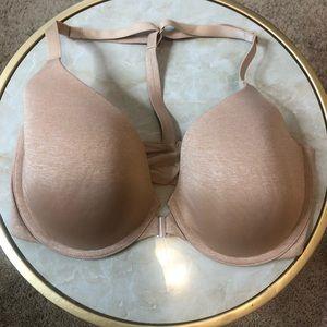Victoria's Secret Racerback Nude Semi Demi 34DD